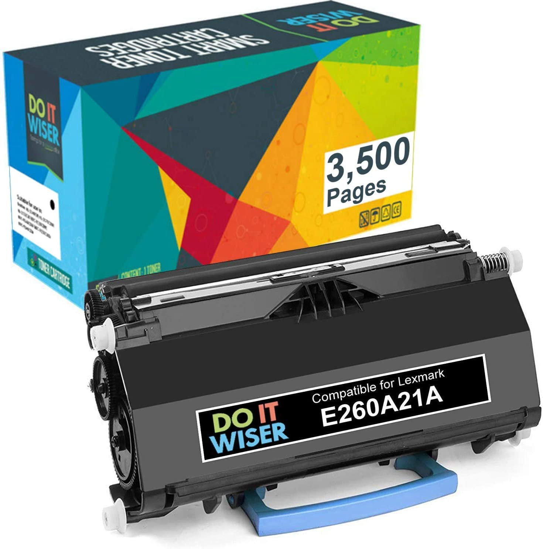 Do it Wiser Lexmark E260A21A Compatible Toner Cartridge Replacement for E260, E360, E460, E462 E260A11A (3,500 Pages)