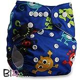 LittleBloom, Reusable Pocket Cloth Nappy, Fastener: Popper, Set of 1