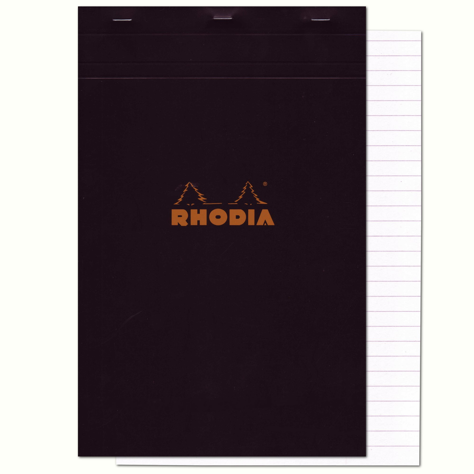 Rhodia Staplebound Pad No.19 - A4+ (8.25 x 12.5 inches), Lined, Black
