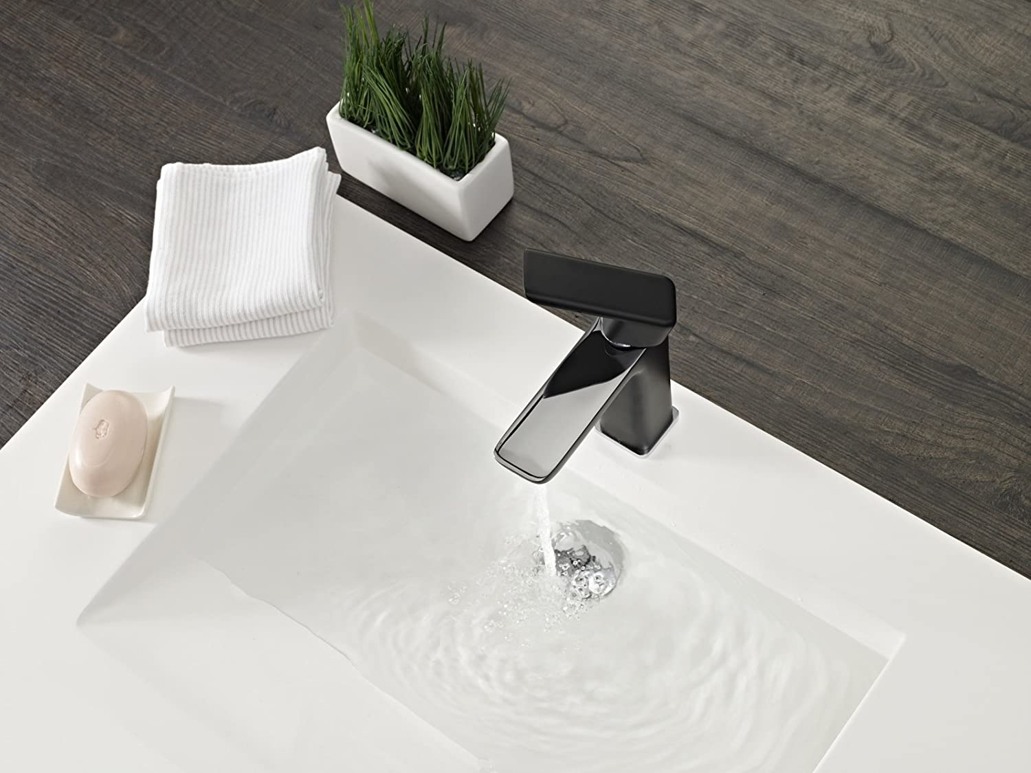Teka Chromed Bathroom Sink tap tap tap with Fixed spout Formentera-Black 62346120NC 1309a9