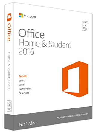 Ongekend Microsoft Office Mac Home and Student 2016 (Product Key Card ohne EE-46
