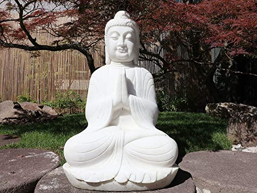 Yajutang Piedra Buda Shakyamuni Siddhartha Gautama para jardín y balcón: Amazon.es: Jardín