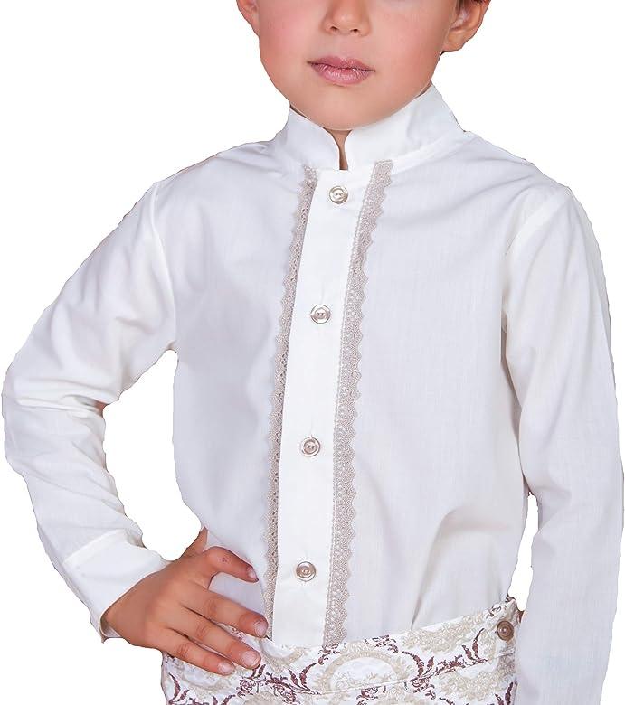 Camisas para Bebé y Niños de Manga Larga | 100% Algodón Cuello Mao y Puntilla Camel | Tallas de Entre 6 Meses y 10 Años | Fabricadas en España: Amazon.es: Ropa y accesorios