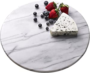 "Creative Home White Marble 8"" Round Trivet"