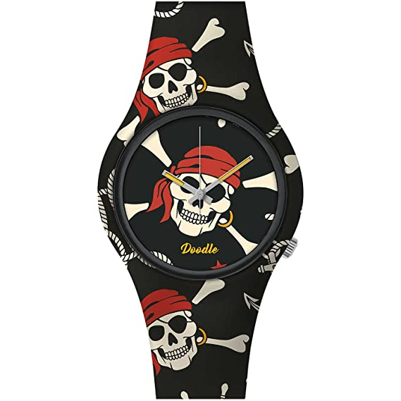 Reloj Calavera Pirata Doodle Watch Unisex Skull Mood: Amazon.es: Relojes