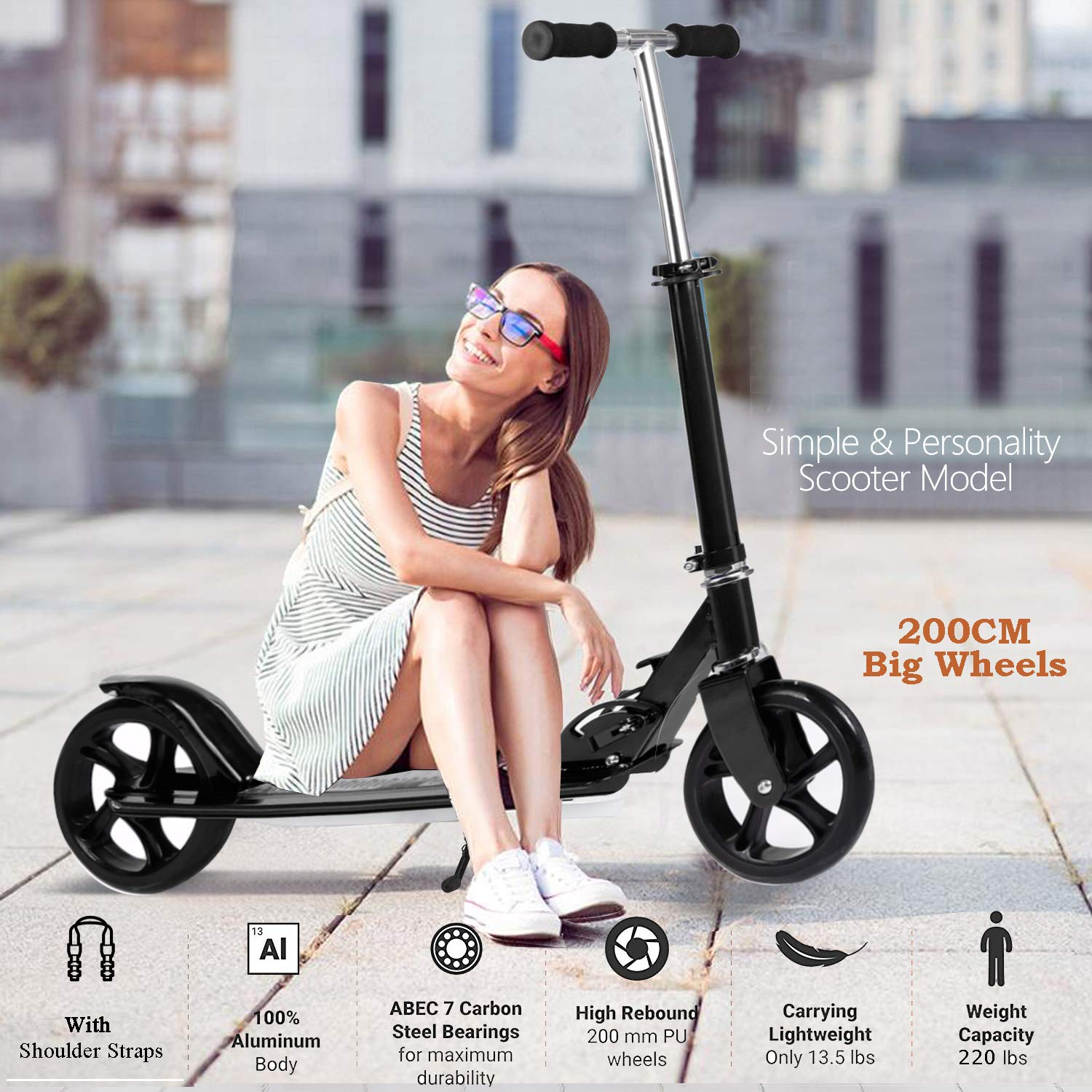 OppsDecor Adult Scooter for heavy adults