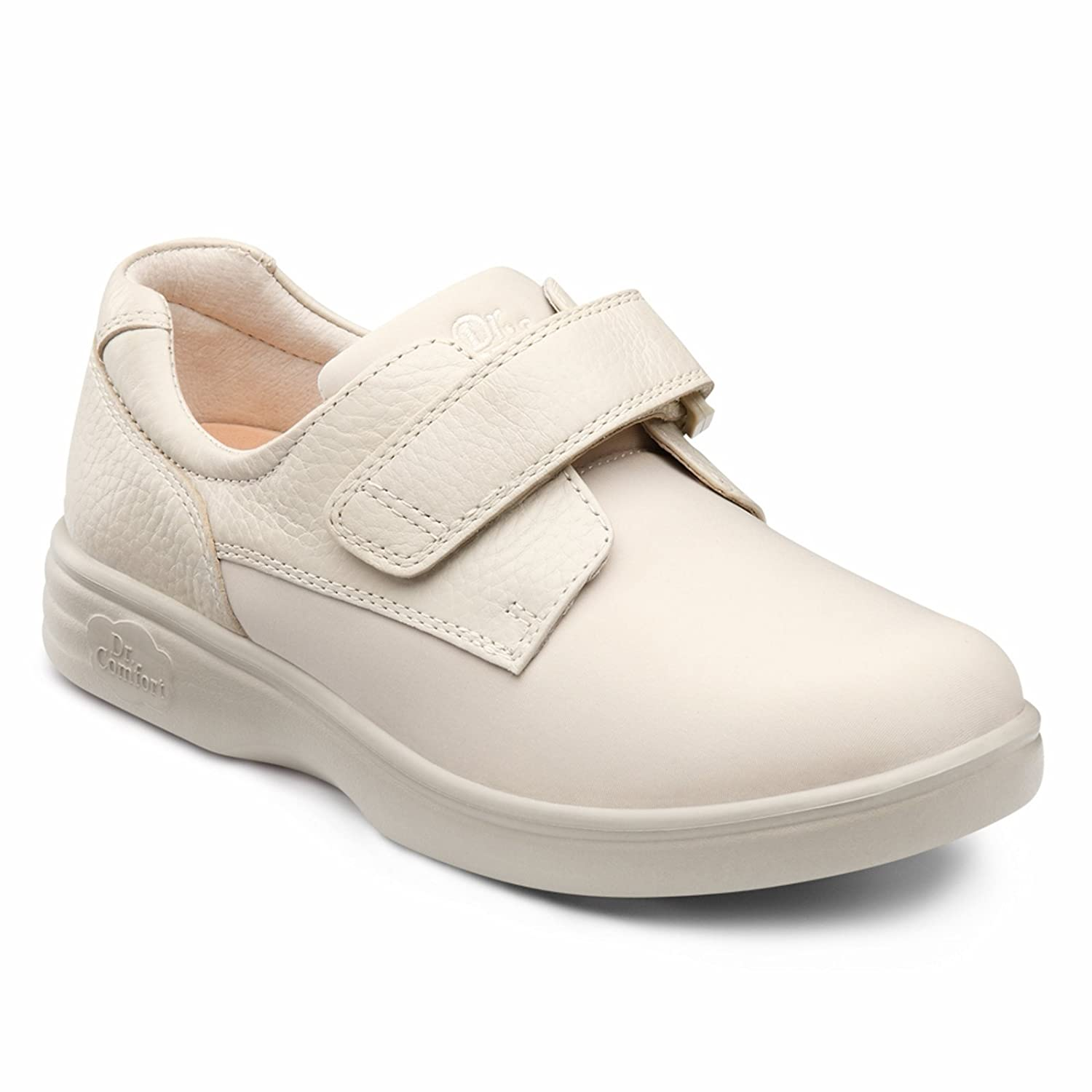 Dr. Comfort Annie Womens Casual Shoe B00IO7ZPJC -8.5 Medium (A-B) Beige Velcro US Woman|Beige