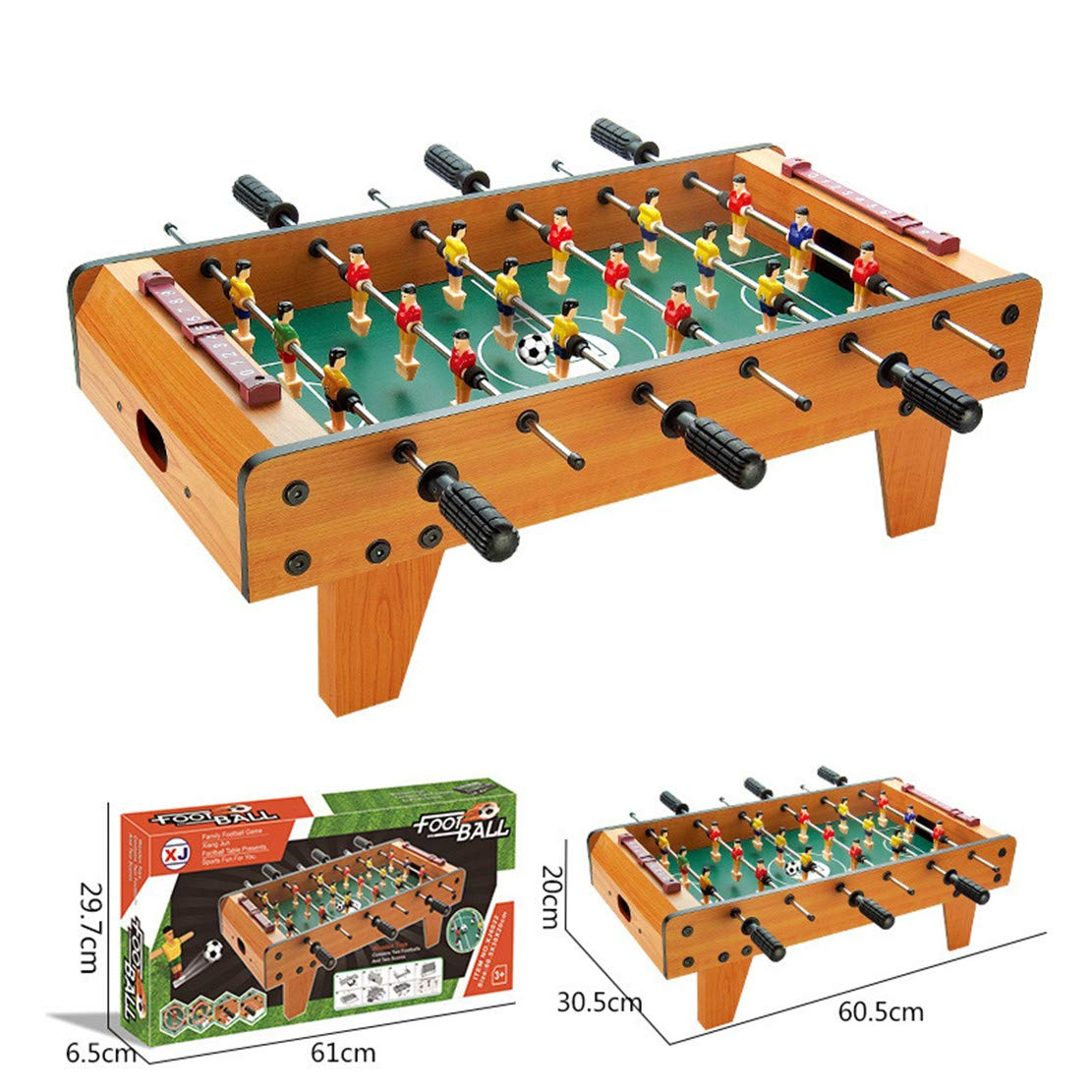 MSTQ Large Football Table Wooden Indoor Soccer Table 6 Football Table Double Battle Desktop Board Game Children Sports Toys 9 Models (6022, L) by MSTQ