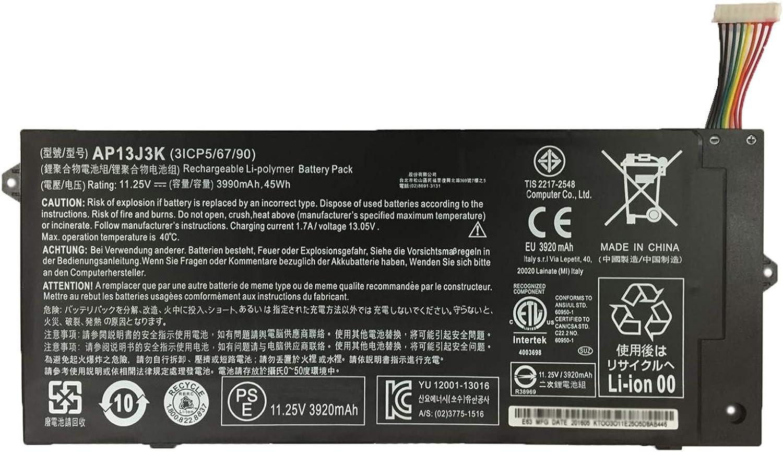 SUNNEAR AP13J3K Laptop Battery Replacement for Acer Chromebook C720 C720P C740 Series Notebook KT.00304.001 KT.00303.001 AP13J4K 11.25V 45Wh 3990mAh - Short Line