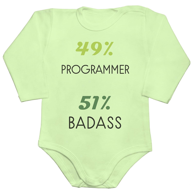 id merce Programmer Badass Baby Romper Long Sleeve