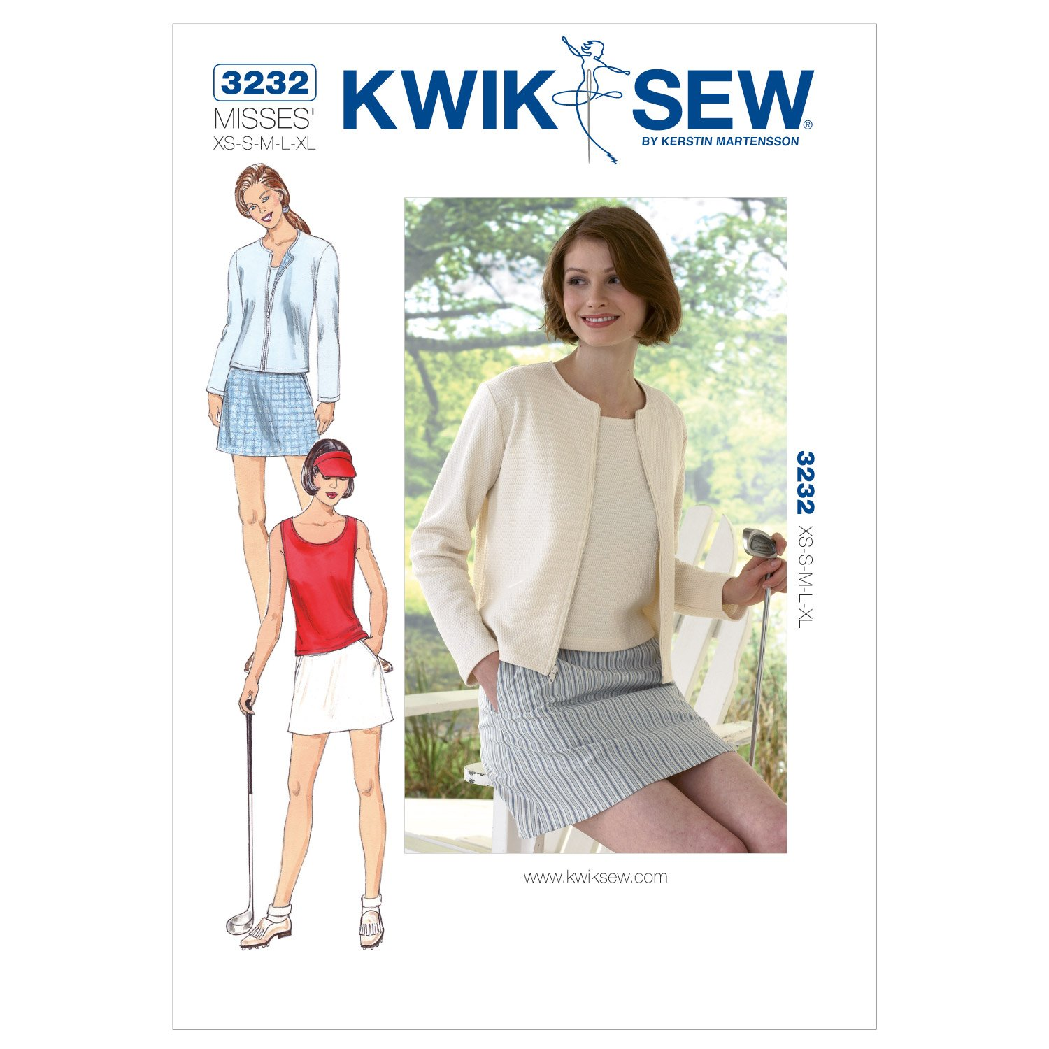 Amazon kwik sew k3232 skort sewing pattern top and cardigan jeuxipadfo Gallery