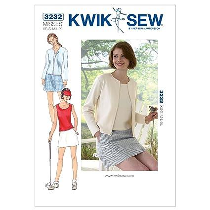 Amazon Kwik Sew K3232 Skort Sewing Pattern Top And Cardigan