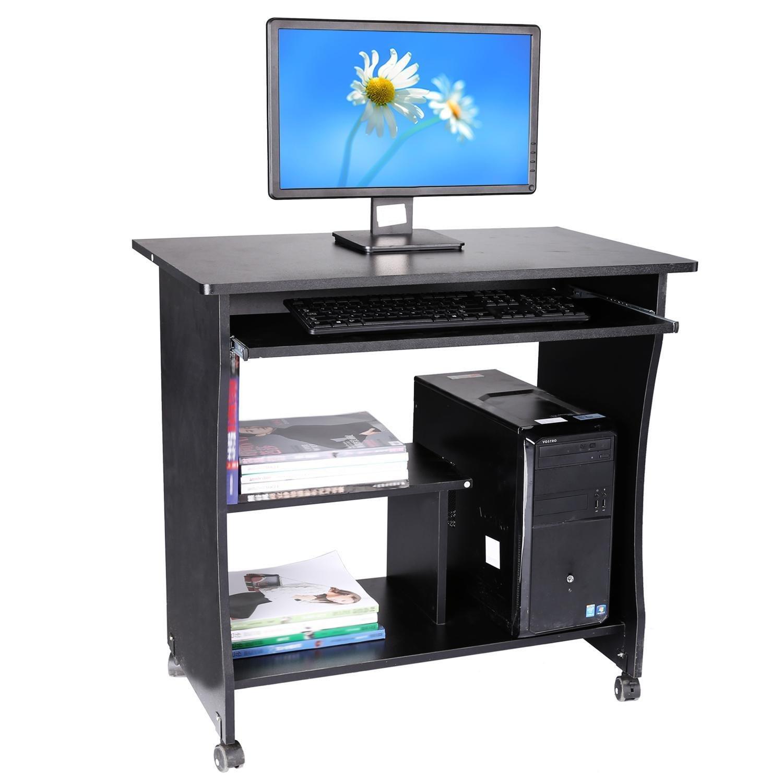 Songmics Schreibtisch Computertisch Mit Tastaturauszug PC Tisch Bürotisch  Arbeitstisch 80 X 45 X 74 Cm LCD852B