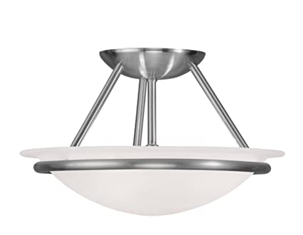 Amazon.com: livex iluminación 4823 Newburgh Semi-Flush ...