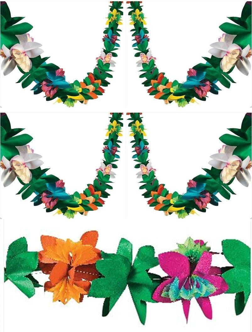 3 Piece Tissue Flower Garlands (Each is 9 feet)