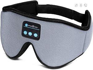 Sleep Headphones 3D Bluetooth Sleep Mask, MUSICOZY Wireless Music Eye Mask with Sleeping Headphones for Side Sleepers, Air Travel, Meditation, Built-in Ultra Soft Thin Speakers Microphone Washable