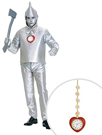 b1dda82456739 Amazon.com  Wizard of Oz Tin Man Adult Plus Size with Clock  Clothing