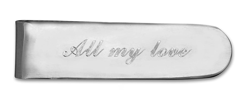 Fermasoldi in argento Sterling con personalizzazione gratuita * *
