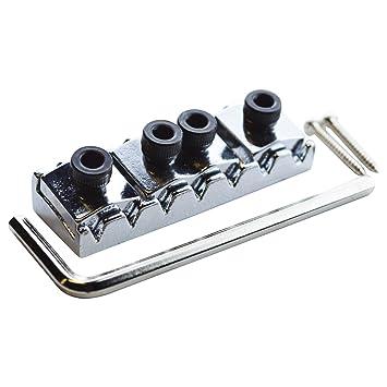 Floyd Rose - Cejuela con bloqueo, 48 mm, para 7 cuerdas Guitarra eléctrica, cromado: Amazon.es: Instrumentos musicales