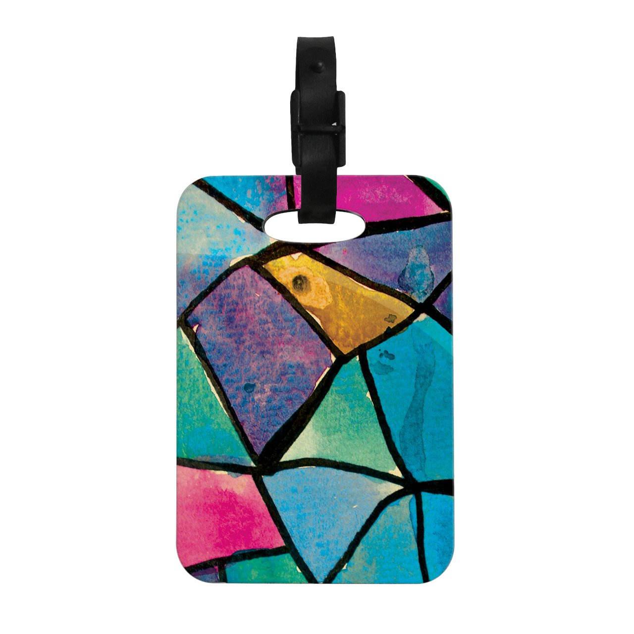 Kess InHouse Theresa Giolzetti Stain Glass 2'' Decorative Luggage Tag, 4 by 4-Inch
