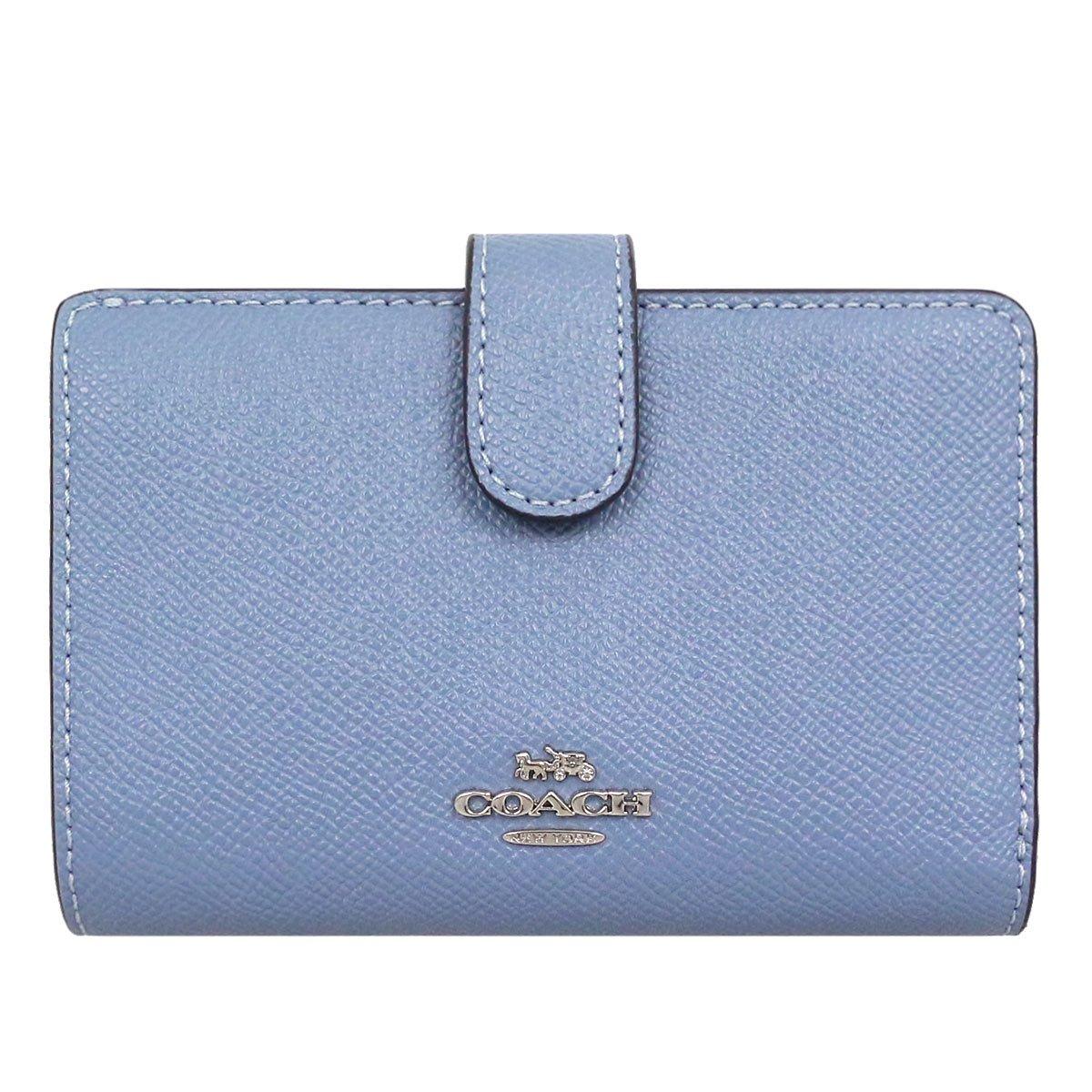 [コーチ] COACH 財布 (二つ折り財布) F11484 レザー 二つ折り財布 レディース [アウトレット品] [並行輸入品] B07CFWQ98M #10 プール #10 プール