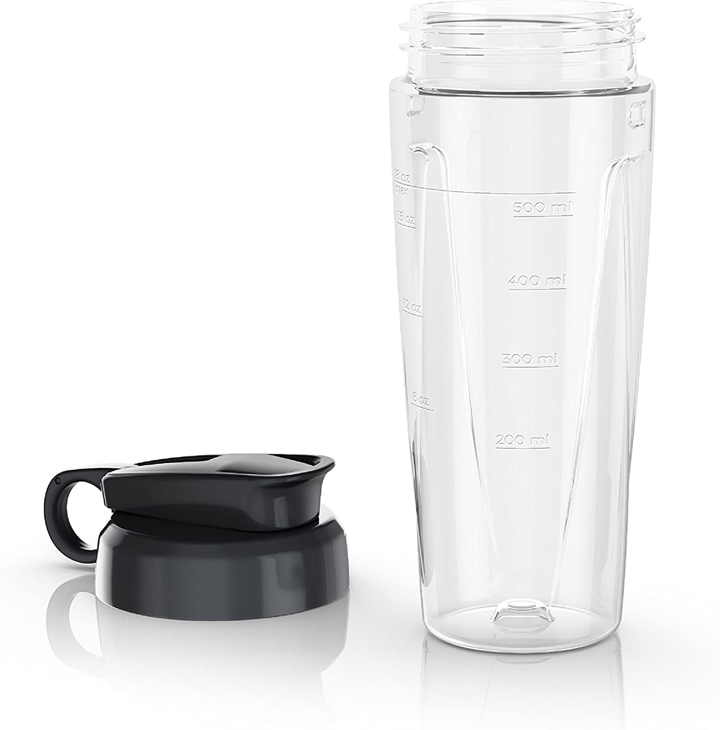 BLACK+DECKER PowerCrush Personal Blender Jar with Travel Lid, Clear, PBJ1650
