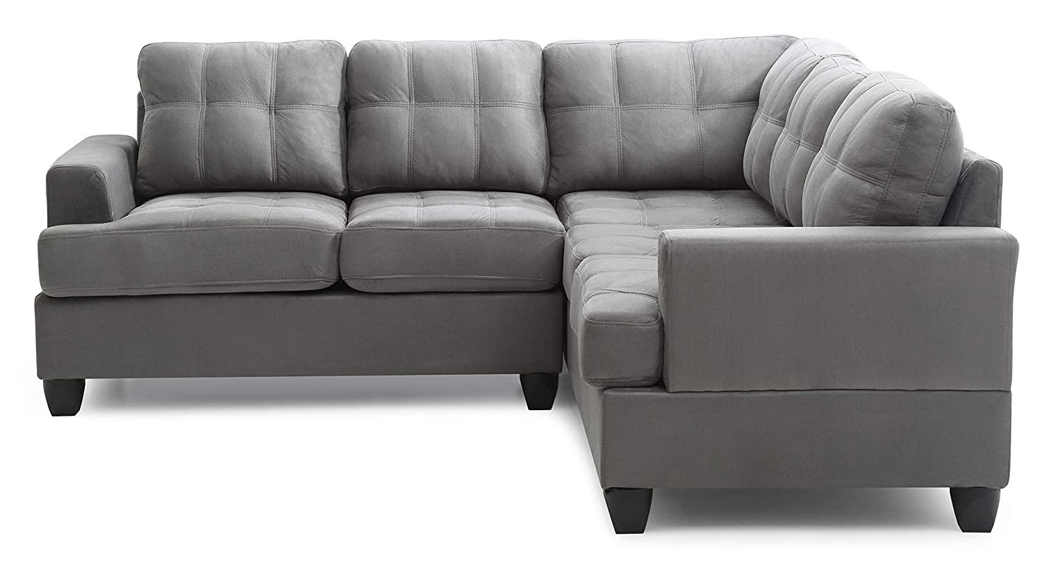 Glory Furniture G513B-SC Sectional Sofa, Grey, 2 boxes