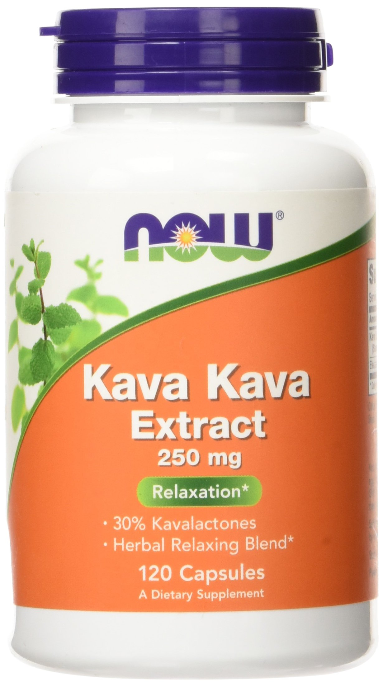 NOW Kava Kava 250 mg,120 Veg Capsules