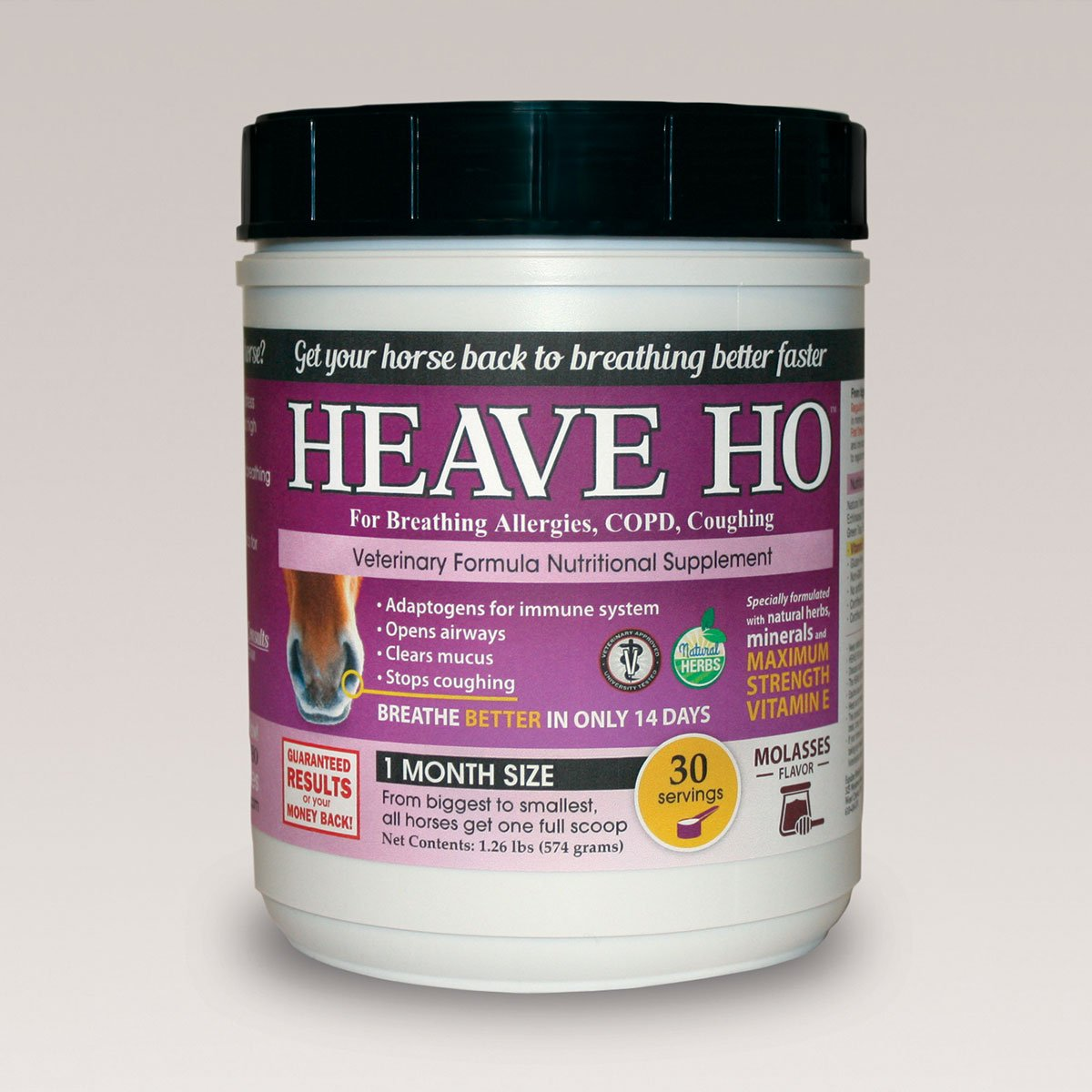 Equine Medical and Surgical Heave Ho Supplement 30 Servings Molasses by Equine Medical and Surgical