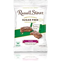 Russell Stover Sugar-Free Toffee Squares, 3 Ounce Peg Bag (Pack of 12)