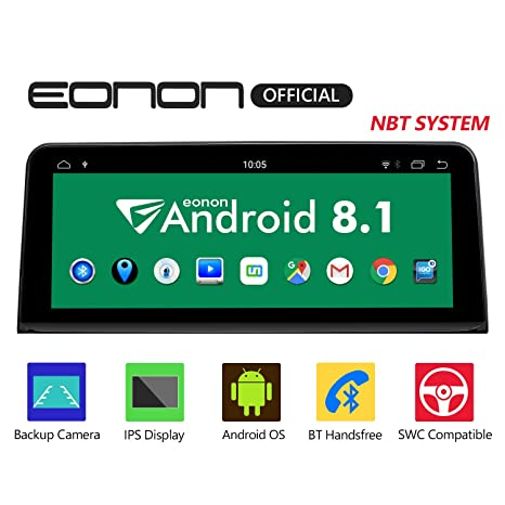 Eonon Android 8 1 Car Stereo, Car Radio with 10 25 inch IPS display Screen  Support Android Auto, Carplay, Applicable to For BMW X5 F15 (2014-2017) NBT