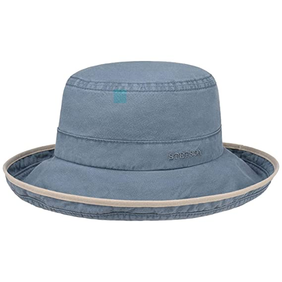 8e18be42f7de5a Stetson Lonoke Delave Cloth Hat Women/Men | Summer Casual Sun with Piping  Spring-Summer: Amazon.co.uk: Clothing