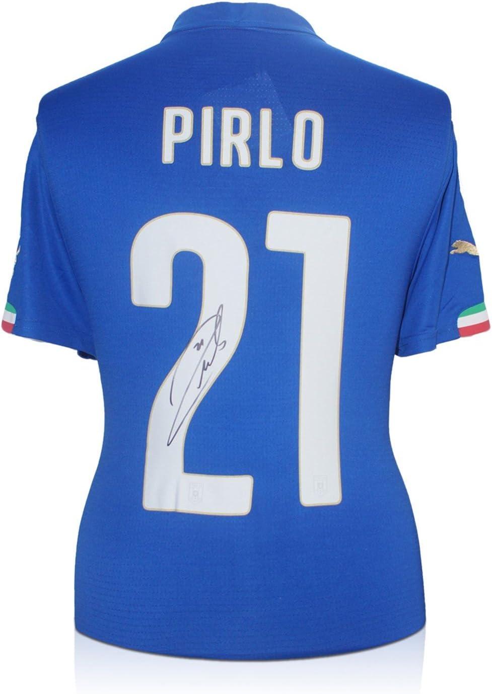 Andrea Pirlo Italia 2014-15 camiseta de fútbol firmada: Amazon.es ...