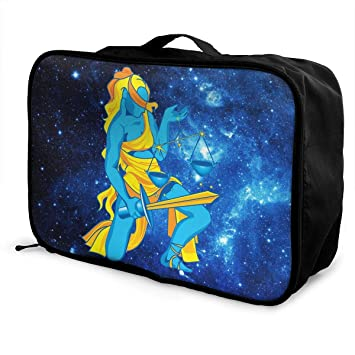 Portable Luggage Duffel Bag Libra Zodiac Travel Bags Carry-on In Trolley Handle
