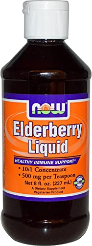 Elderberry Liquid, 8 oz by Now Foods Pack of 4