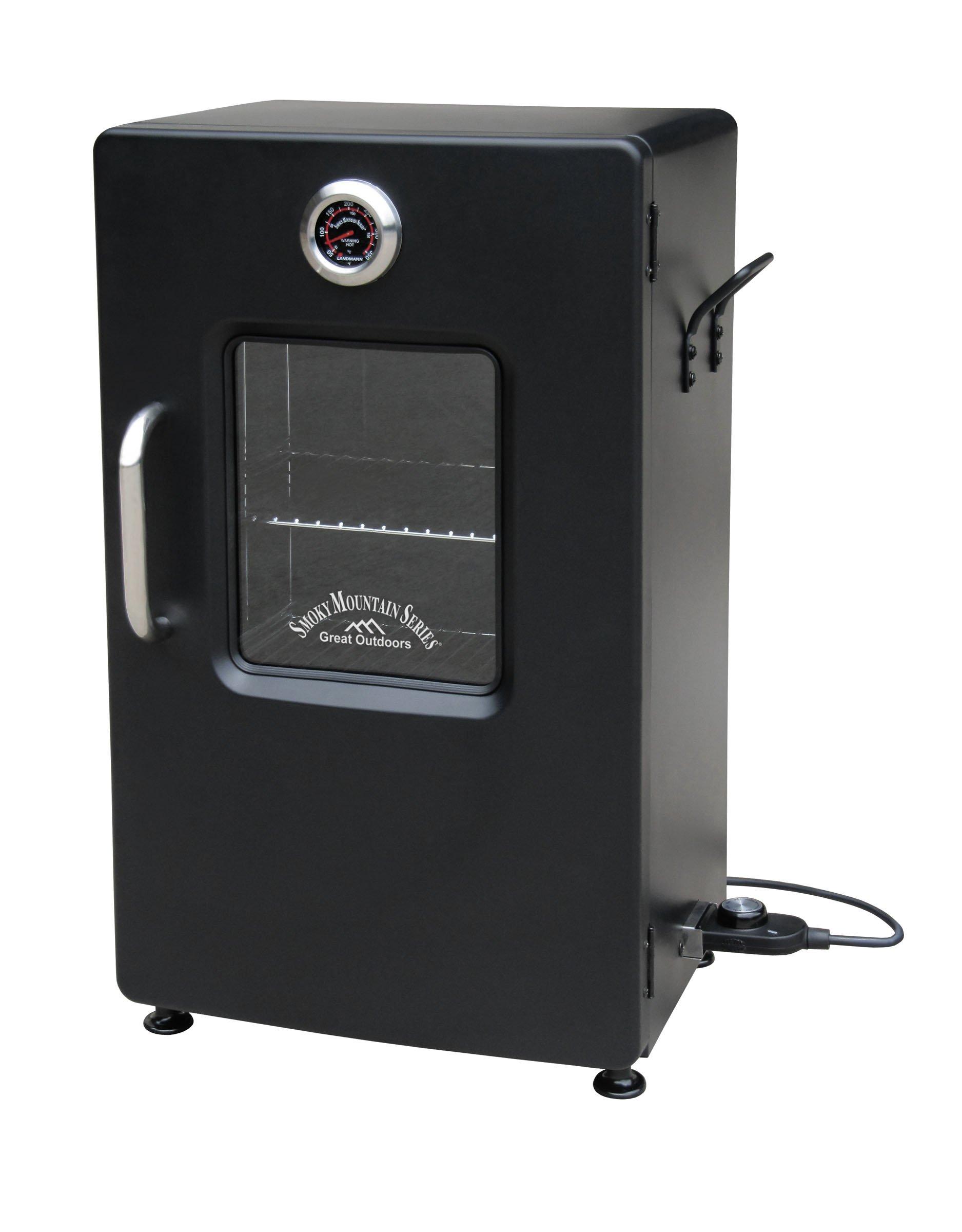 Landmann USA Smoky Mountain Electric Smoker with Viewing Window, 26''