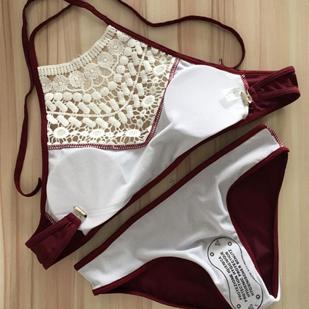 XL, schwarz Damen Bikini-Set Internet Push-up gepolsterte Bikini Badeanzug Set