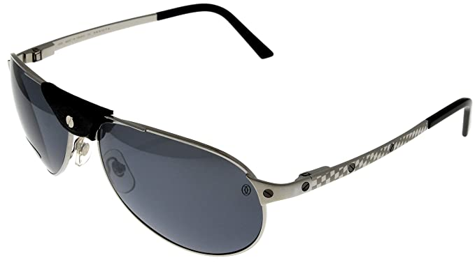 6464f84a1ca Amazon.com  Cartier Santos-Dumont Sunglasses T8200908 Aviator Polarized   Clothing