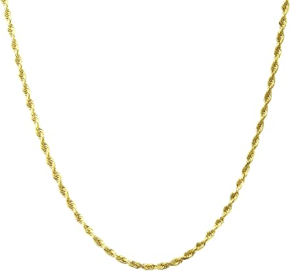 Made In Italy 18 Karat Solid Yellow Gold 2.5mm Figaro Link Chain Necklace 16-30 3+1 Link