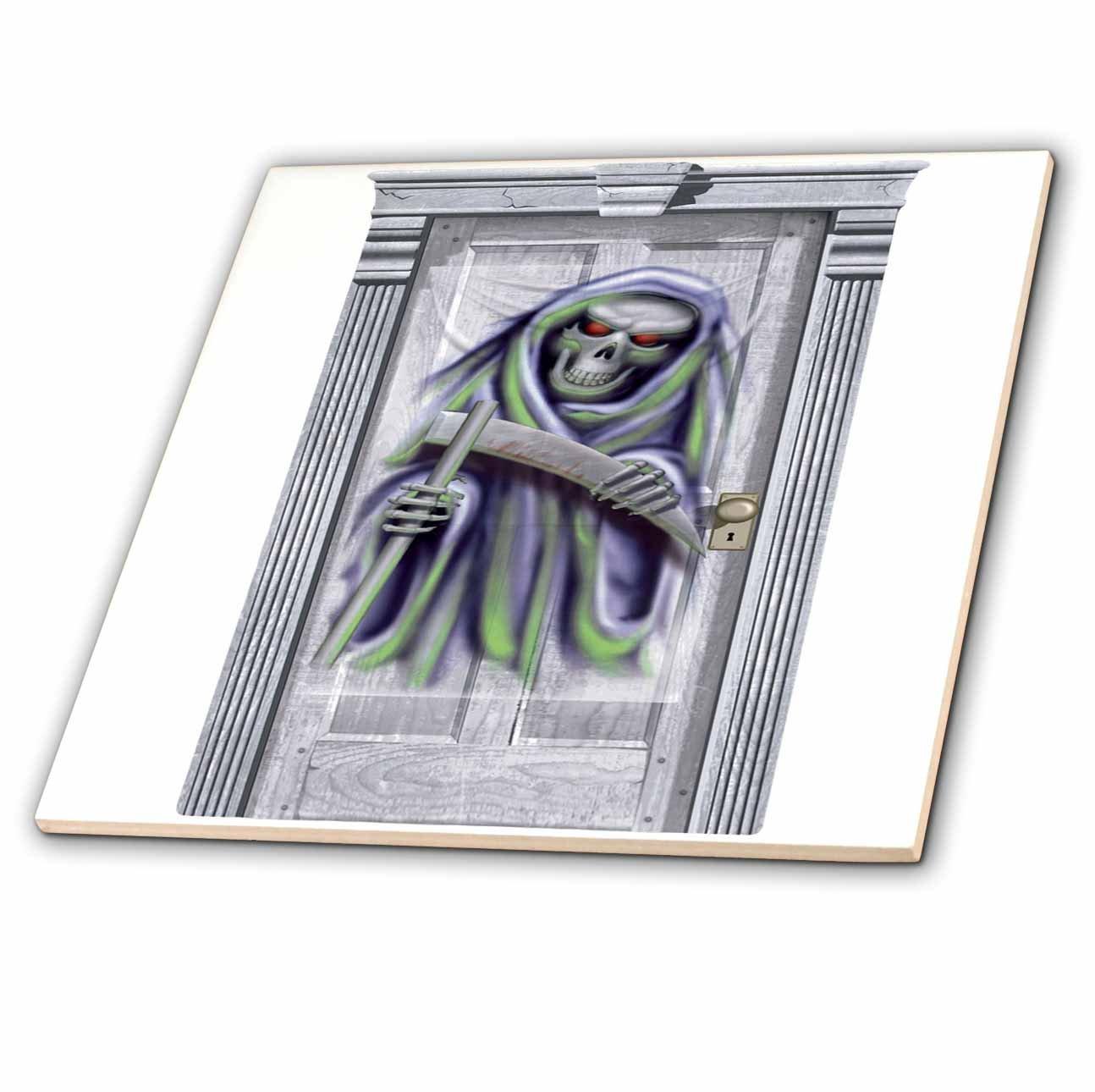 3dRose ct_131227_2 Halloween Grim Reaper Door-Ceramic Tile, 6-Inch