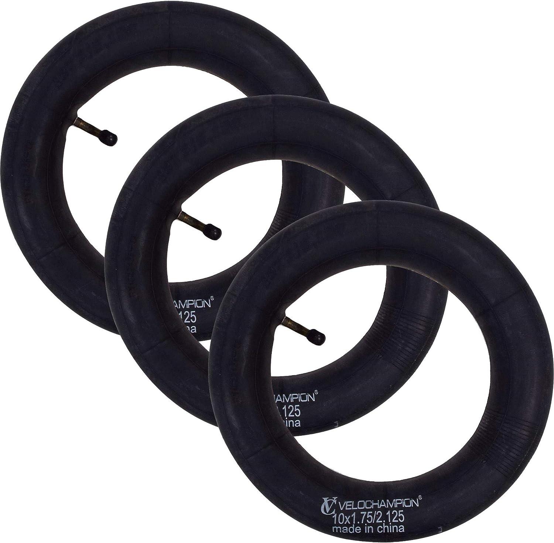 STROLLER PUSH CHAIR,PRAM SCOOTER INNER TUBES 10x1.75-2.1  BENT CAR TYPE VALVE