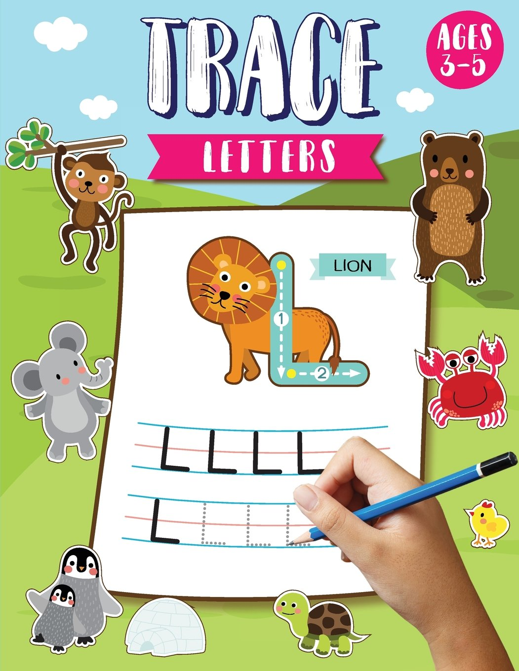 Read Online Trace Letters Ages 3-5: Alphabet Tracing Letters Workbook (Preschool) - Letter Tracing Books for Kids Ages 3-5 : (Large Print Size 8.5x11 inches) pdf