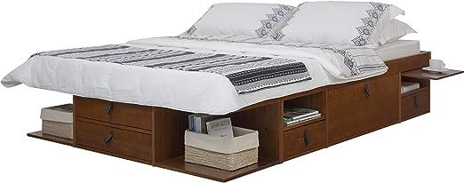 Amazon Com Memomad Bali Storage Platform Bed With Drawers Queen