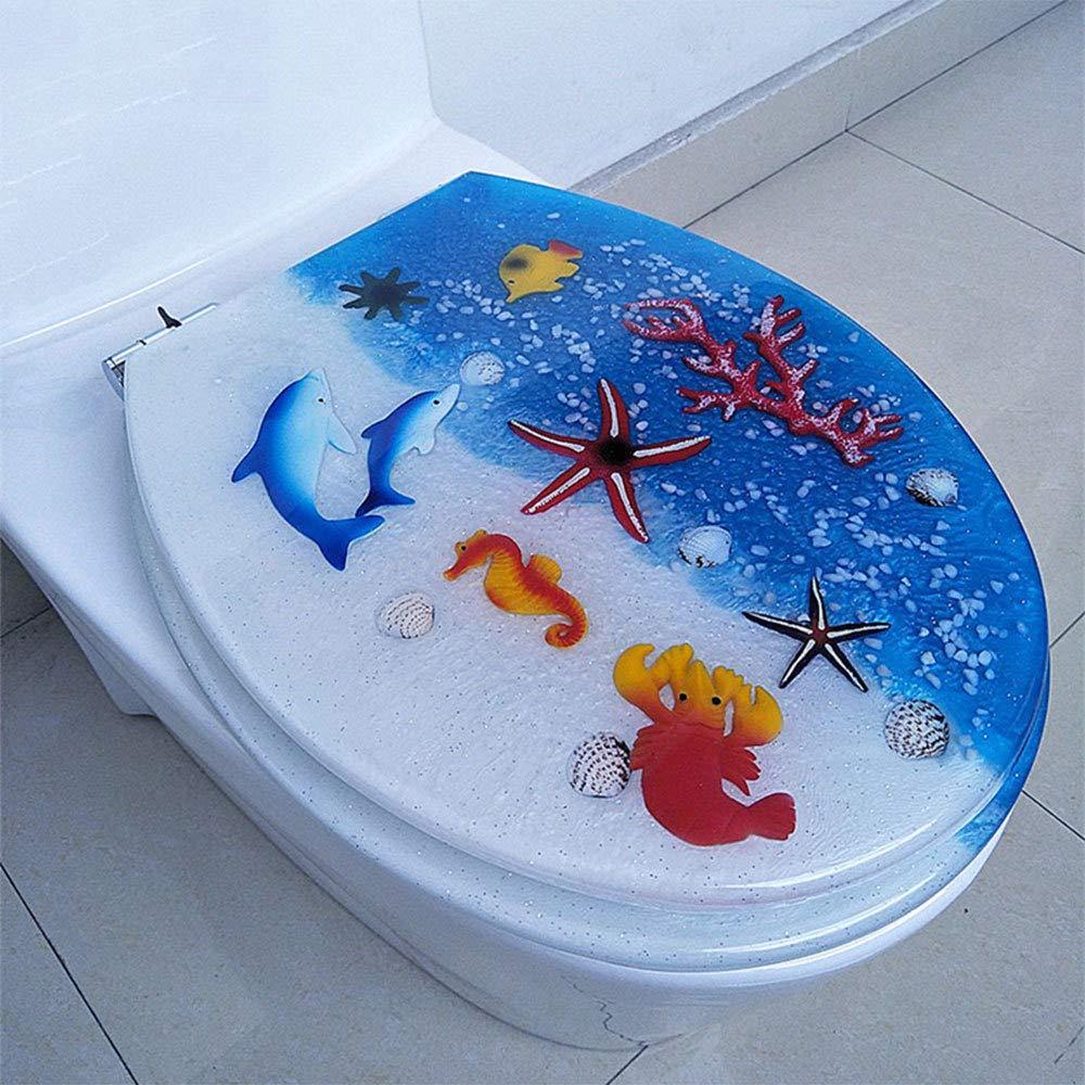 /épaississant et ralentissant le son pour la salle de bains familiale lunette de toilette Abattants WC Couvercle de toilette universel en r/ésine couleur U//V//O//type