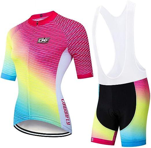 YDJGY Jersey Ciclismo Para Mujer Camiseta Manga Corta Para ...