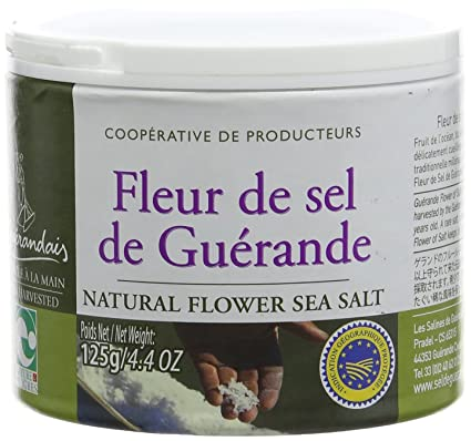 Le Guerandais Fleur De Sel From Guerande 125 G Amazon Co Uk Grocery