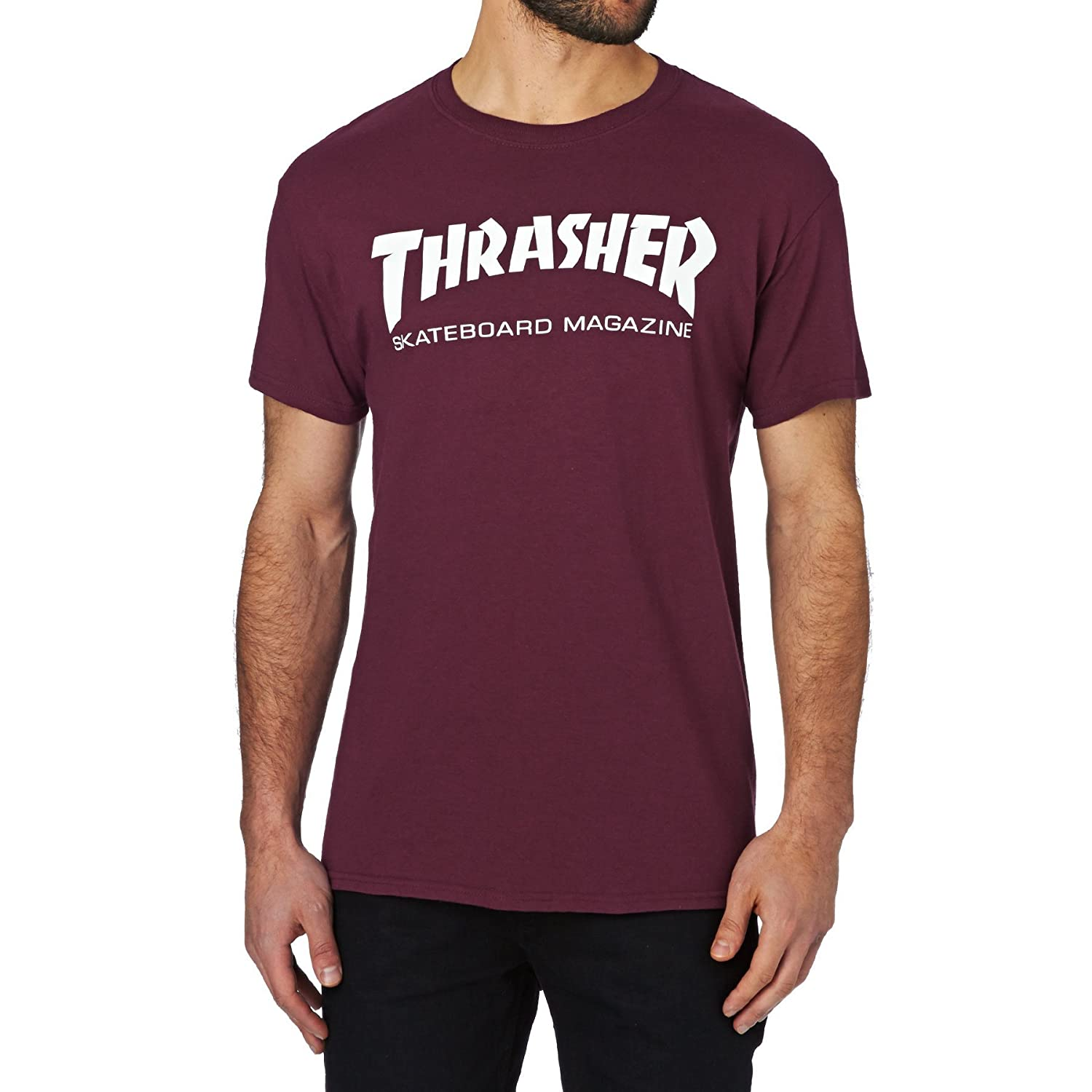 b6a17778 Amazon.com: Thrasher T Shirt Skate Mag Short Sleeve T-Shirt: Clothing