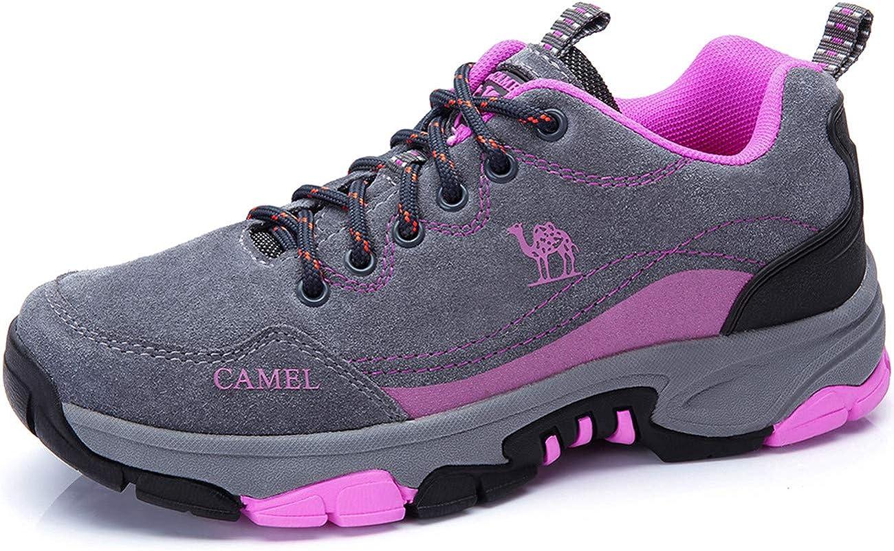 Zapatos para Caminar para Mujer Zapatos de Cuero Antideslizantes anticolisión Resistente al Agua Calzado Deportivo al Aire Libre para montaña, Viajes, Zapatillas Deportivas diarias