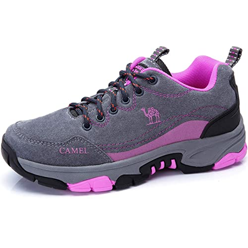 534d8146b3b5f Zapatos para Caminar para Mujer Zapatos de Cuero Antideslizantes  anticolisión Resistente al Agua Calzado Deportivo al Aire Libre para  montaña