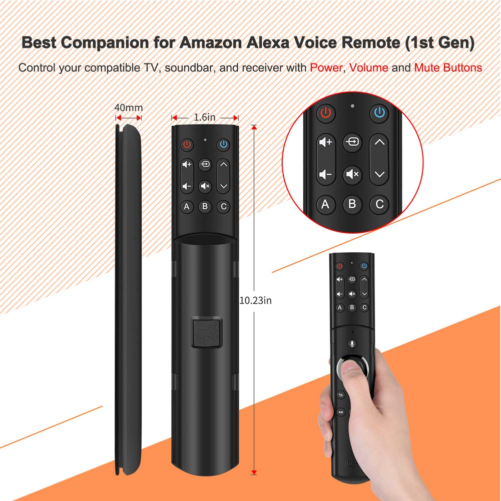 SofaBaton F2 Universal Remote Attachment for Amazon Fire TV Streaming Player with Power Volume and Mute Buttons (Alexa Voice Remote NOT Included) by SofaBaton Remotes (Image #2)
